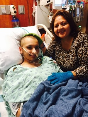 Uriel Alvarado, 18, pictured with his mother, Maria, after the successful use of the Hemolung RAS at Memorial Hermann Heart & Vascular Institute-Texas Medical Center.