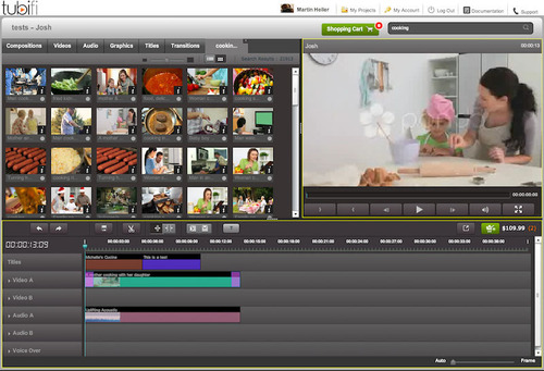 Tubifi's Online Video Editor makes it easy to search, preview and purchase stock footage from leading content libraries.  (PRNewsFoto/Tubifi, Inc.)