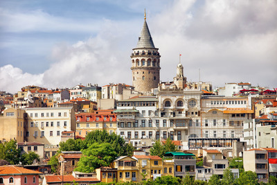 Instanbul's Galata district, featuring the Galata Tower.