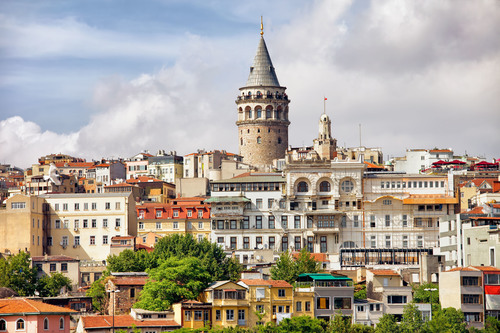 Istanbul's Galata district, featuring the Galata Tower. (PRNewsFoto/Crystal Cruises)