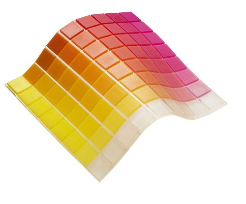 One of the six new rubber-like Tango color palettes, enabling diverse transparent to opaque colors with additional new Shore A Values, combining various degrees of flexibility & color translucency in one print job* (PRNewsFoto/Stratasys)
