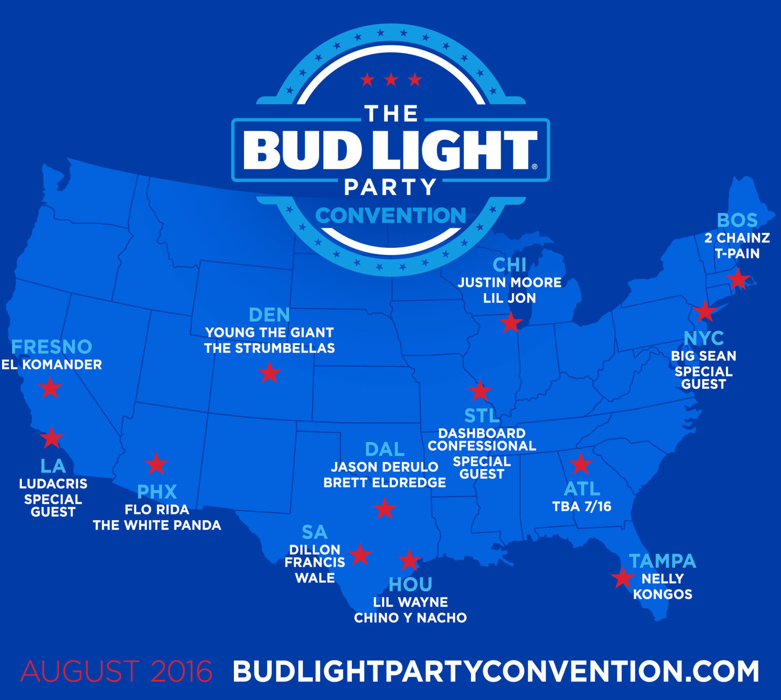 Bud Light Convention Parties Will Be Happening All Over The Country This  Summer!