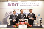SMIT Holdings Limited Global Offering Press Conference. From left to right: President Mr. Shuai Hongyu; Chairman Mr. Huang Xueliang; CFO Mr. Loong Manfred Man-tsun