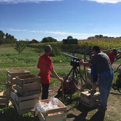 Injured veterans and family members joined Wounded Warrior Project for a day of fall fun at Apple Jack Orchards. Activities included launching apples from a fruit cannon.