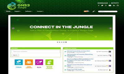 "GNS3 Technologies external community, built on JiveX and called ""The GNS3 Jungle,"" drives computer networking innovation by connecting engineers with their peers and vendors."