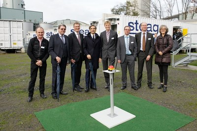 Nidec ASI and STEAG inaugurate 90 MW BESS project in Duisburg-Walsum, Germany (PRNewsFoto/Nidec ASI)
