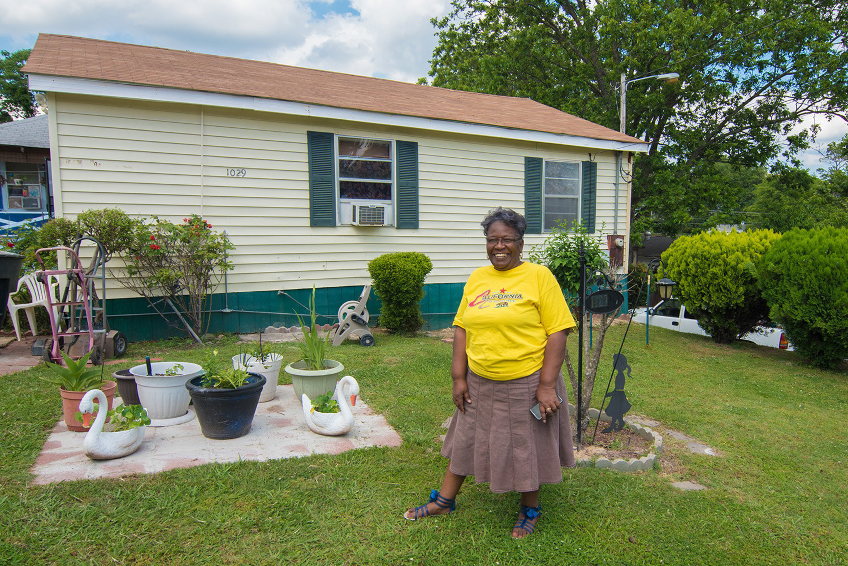 A Special Needs Assistance Program grant from FHLB Dallas and RiverHills Bank helped Julia James repair the house she has called home for 34 years.