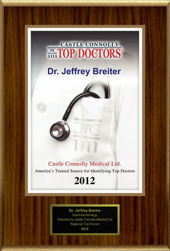 Dr. Jeffrey Breiter Is Recognized By Castle Connolly As One Of The Regional Top Doctors® In