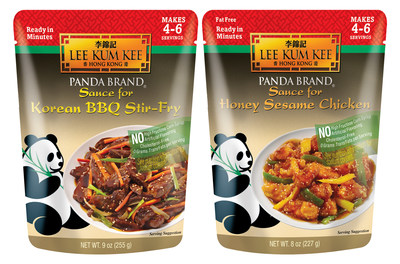 Lee Kum Kee's Panda Brand Ready Sauces for Korean BBQ Stir-Fry and Honey Sesame Chicken