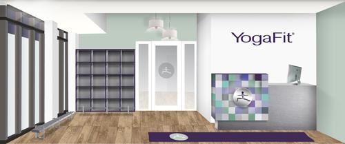 Rendering of YogaFit Studios. (PRNewsFoto/Lift Brands)