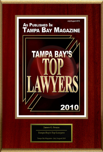 """James G. Souza III Selected For """"Tampa Bay's Top Lawyers"""".  (PRNewsFoto/American Registry)"""