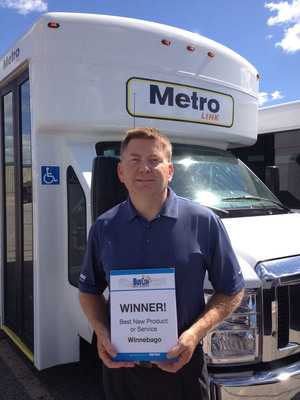 "Winnebago Industries' new Metro Link Received ""Best in Show"" Award for best new product at BusCon Expo 2013.  (PRNewsFoto/Winnebago Industries, Inc.)"