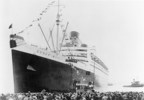 MAY 27, 1936 - The Queen Mary departs Southampton at 4:33 p.m. on her Maiden Voyage