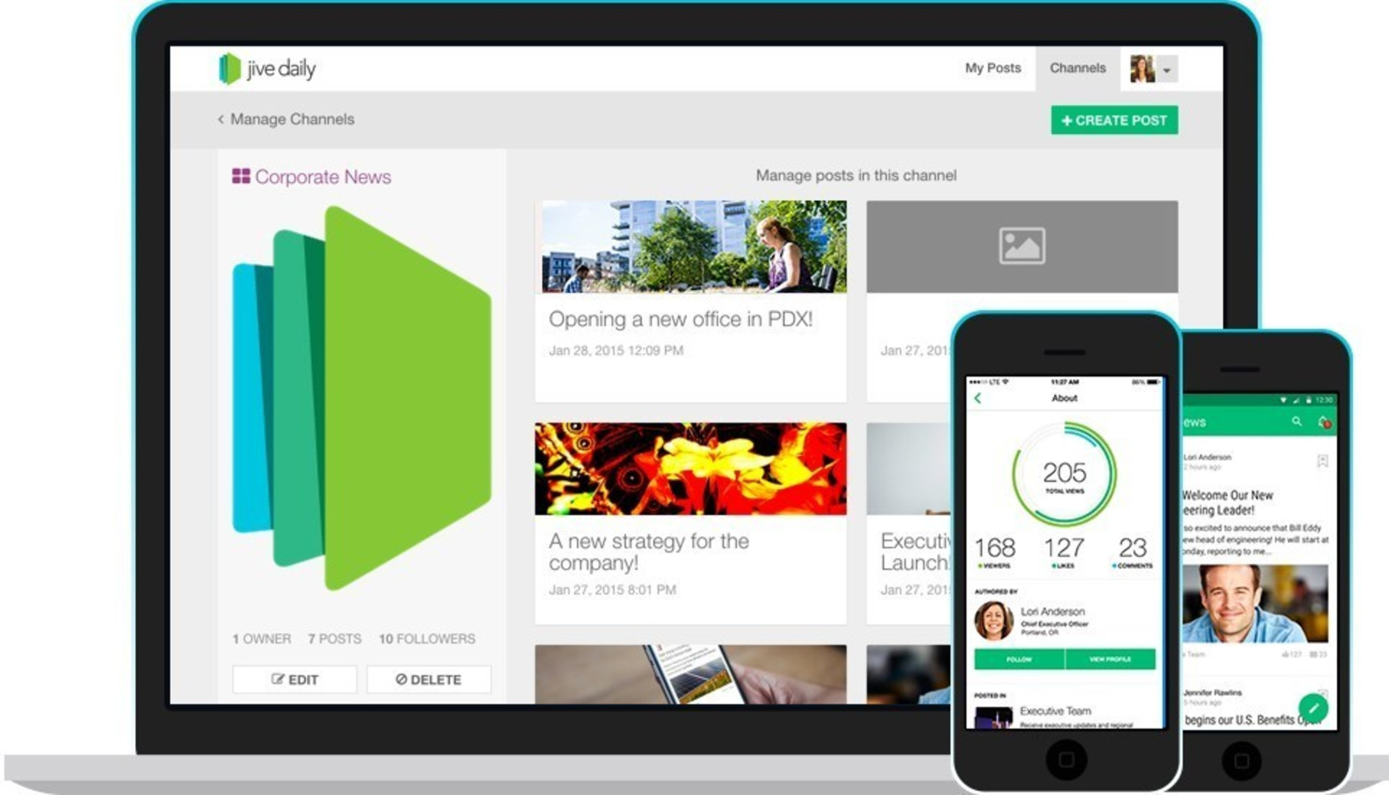 Jive Daily helps companies get the word out, drive conversations and analyze communications impact in real time.