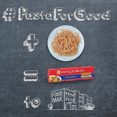 Sharing a Pasta Photo on the San Giorgio(R) Pasta Facebook Page with #PastaForGood Triggers Box of Pasta Donated to Mid-Atlantic Food Banks, Up to 25K
