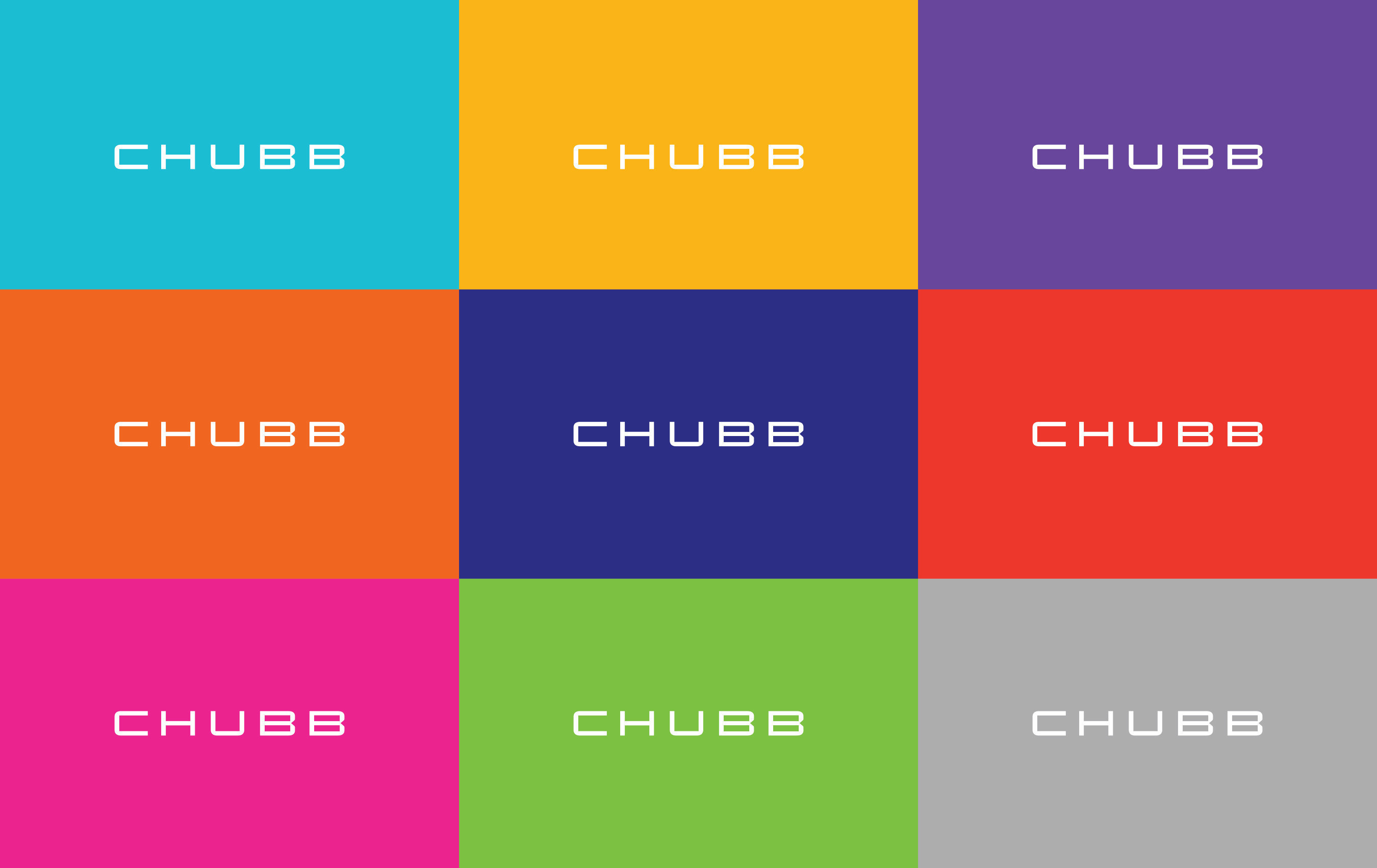 """There will be many colors to represent the new Chubb brand - nine to be exact.  These colors reflect the diversity and energy of our culture, our thinking, global presence, the many different customers we serve and the many products we offer,"" said Evan Greenberg, Chairman and CEO of Chubb Limited."