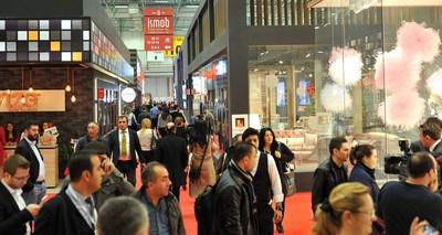 An exhibition stand at ISMOB Furniture Fair (PRNewsFoto/TUYAP)