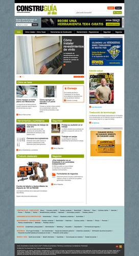 Constru-Guia al dia, the largest circulation Spanish language construction and remodeling magazine in the United States, has announced the redesign of its website, MiConstruGuia.com. The website is in Spanish and English for the billingual experience our Hispanic Building Professionals told us they wanted. The content encompasses everything from How-to articles to construction term translations and much more. Plus all of this information is easily accessible at the job site because the redesigned MiConstruGuia.com is mobile-enabled for easy ...