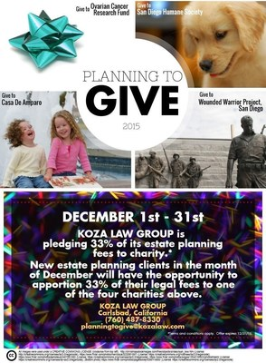 Planning to Give 2015 (Estate Planning in San Diego, California)