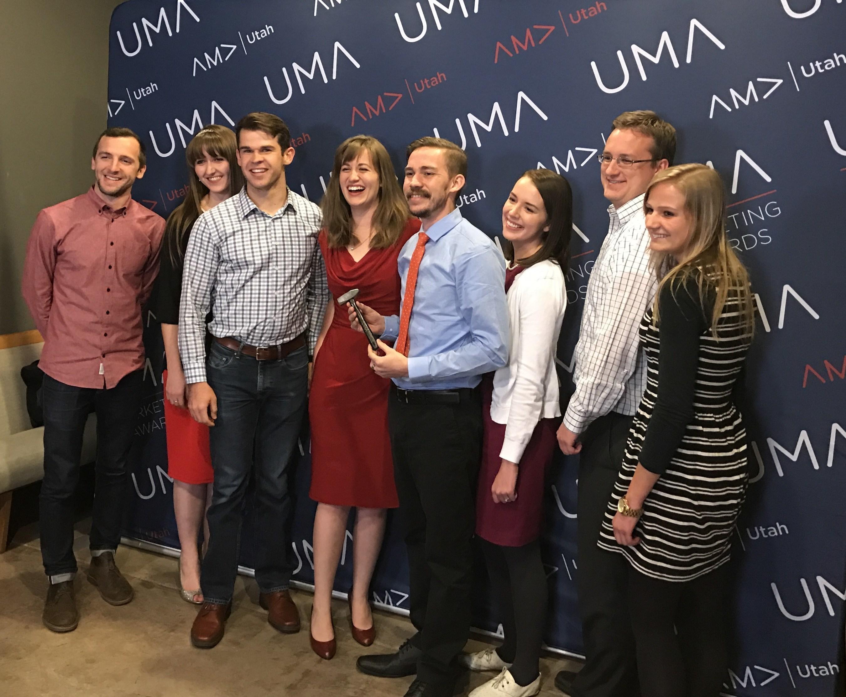 The Lucid Software marketing team at the Utah Marketing Awards