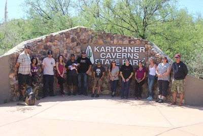 Wounded Warriors take a tour of the Kartchner Caverns.
