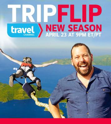 """New Season of """"Trip Flip"""" with Bert Kreischer - Wed, April 23 at 9pm ET/PT.  (PRNewsFoto/Travel Channel)"""