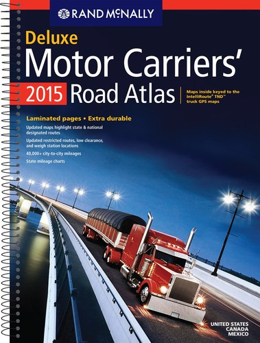 Rand McNally Releases the 34th Edition of the Motor Carriers' Road Atlas - the #1 selling Atlas for truckers.  The trusted guide for large-vehicle navigation, the Motor Carriers' Road Atlas is updated annually with new routes and critical state safety information, and cross-referenced to Rand McNally's IntelliRoute(R) TND(TM) devices with content specifically tailored to the needs of the commercial truck driver. The Motor Carriers' Road Atlas is available in paperback format, in a spiral-bound, laminated Deluxe version, as well  ...