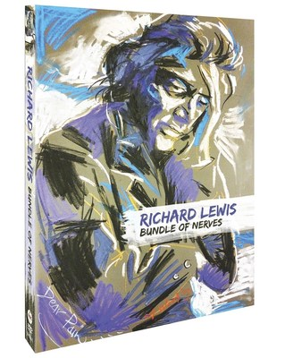 "Richard Lewis's DVD set ""Bundle of Nerves"" due out Sept. 2. The set features 4 timeless films spanning four decades now available on DVD with added perspective-ridden commentary tracks. Cover art by Ron Wood."