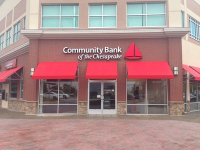 The newest Community Bank of the Chesapeake branch in Fredericksburg's Central Park commercial area. (PRNewsFoto/Community Bank of the Chesapeake)
