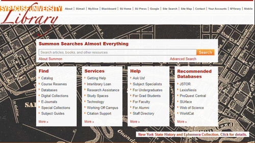 Syracuse University Library Launches Serials Solutions Summon Service