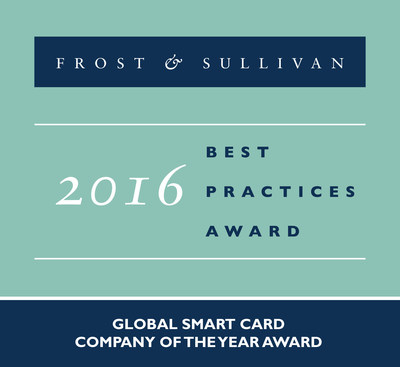 Oberthur Technologies Receives 2016 Global Smart Card Company of the Year Award