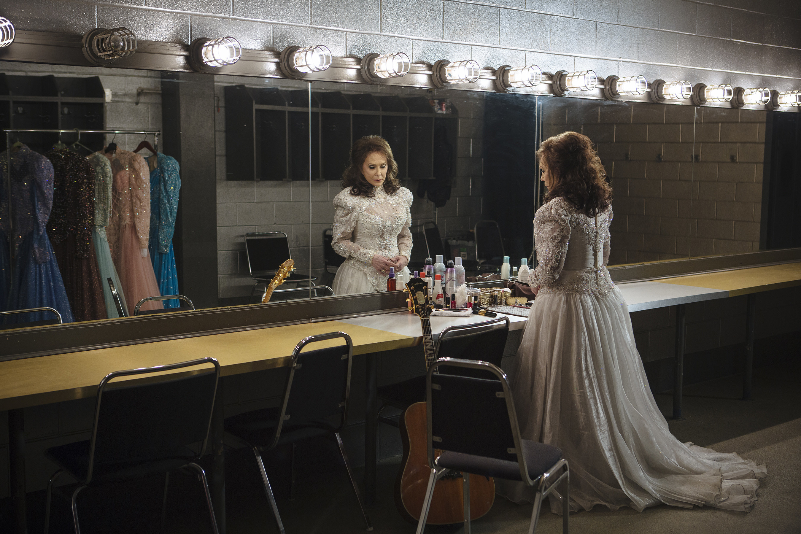 """Loretta Lynn (pictured) from the set of her new music video """"Lay Me Down"""""""