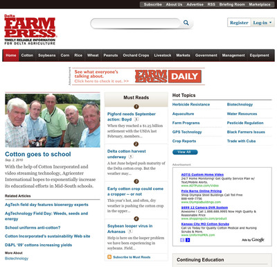 Screen shot of enhanced Website from Penton's Agricultural Group.  (PRNewsFoto/Penton Media, Inc.)