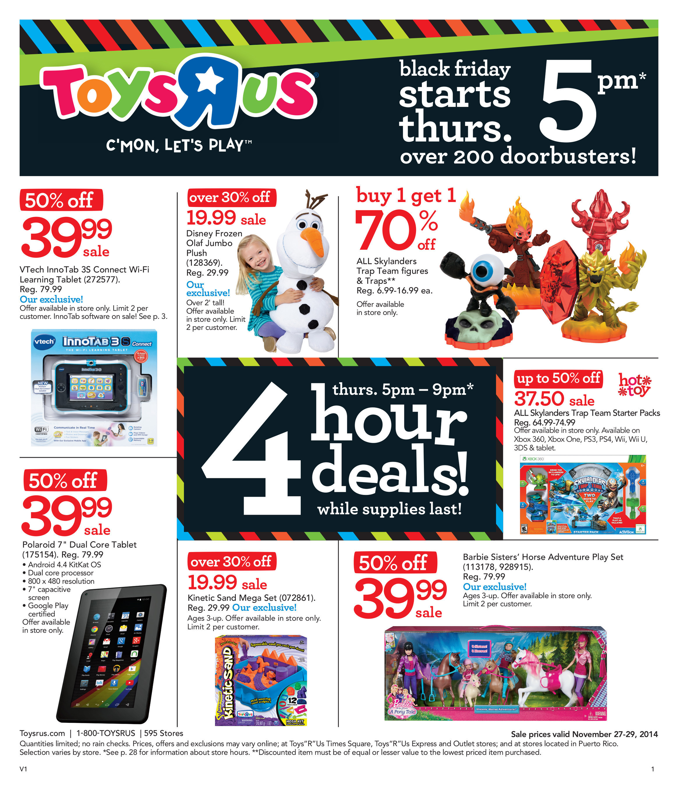 Toys R Us Announces 2014 Thanksgiving Weekend Doorbusters And Provides Its Nearly 19 Million Loyal Customers With Early Access To Hot Black Friday Deals
