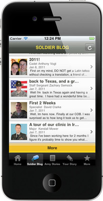 Army Strong Stories iPhone App.  (PRNewsFoto/U.S. Army Accessions Command)