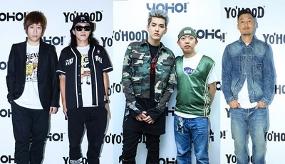 2016 YO'HOOD Global Trendy New Products Carnival, from left to right: Ashin, Bu erliang, Kris, NIGO, and Shawn Yue