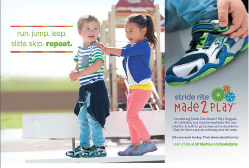 Stride Rite(R) Made 2 Play(TM) collection is built around how kids play.  (PRNewsFoto/Stride Rite ...