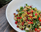Menus of Change - Freekeh and White Bean Salad with Pomegranate Seeds