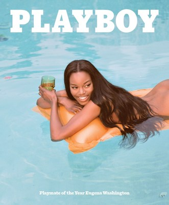 2016 Playmate of the Year Eugena Washington is featured on the cover of Playboy magazine's June 2016 issue.  She was officially introduced on Wednesday, May 11, 2016 at the Playboy Mansion in Holmby Hills, California. (Photo courtesy Playboy/Jason Lee Parry.)