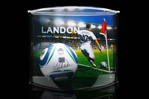 Upper Deck offers a wide variety of signed Landon Donovan products including this Curve Acrylic Display.  (PRNewsFoto/The Upper Deck Company)