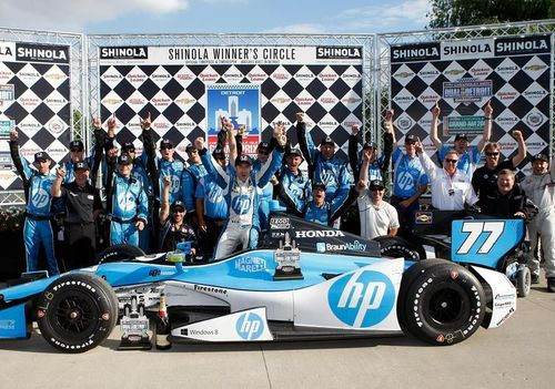 Magneti Marelli: first sponsor victory in the IZOD IndyCar Series thanks to Simon Pagenaud from the Schmidt ...