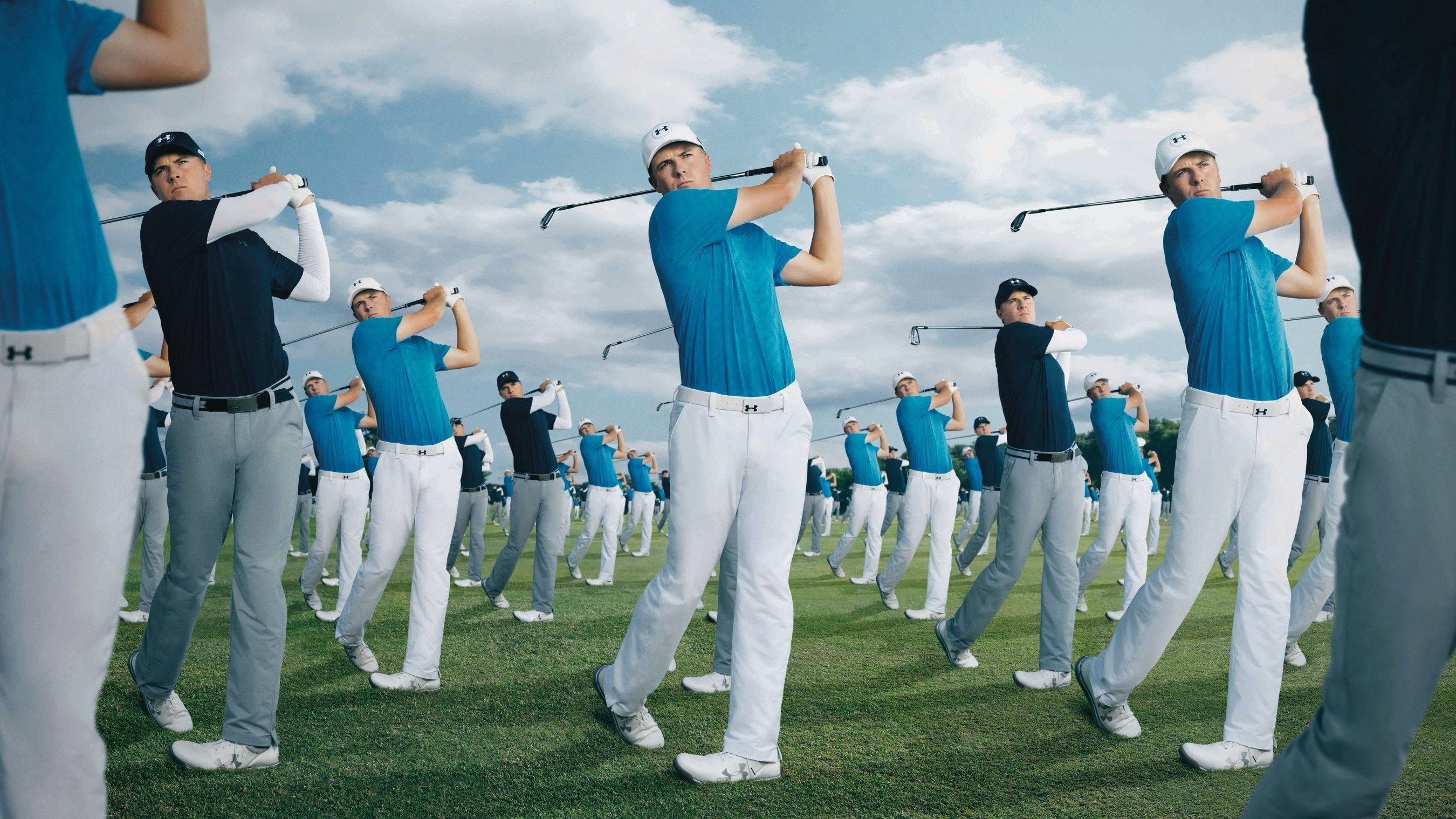 Two-time golf major champion Jordan Spieth in Under Armour's RULE YOURSELF campaign.
