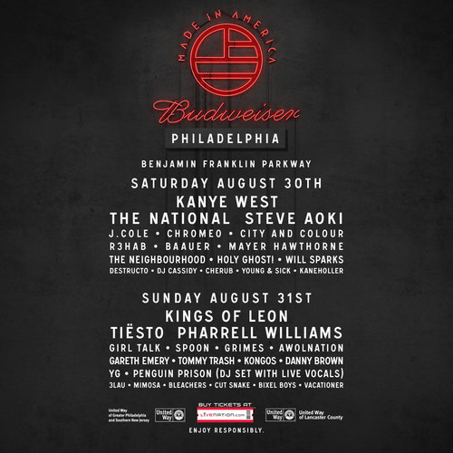 Festival Also Reveals Daily Line-Up for Both Philadelphia and Los Angeles, Single-Day Tickets on Sale Friday, ...