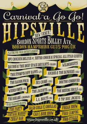 Hipsville Carnival A Go Go Bands 2016 (PRNewsFoto/Dirty Water Records)