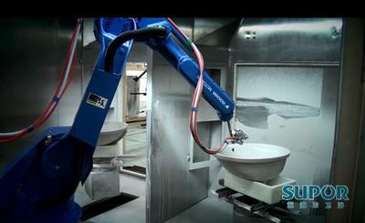 Robotic spray glazing system