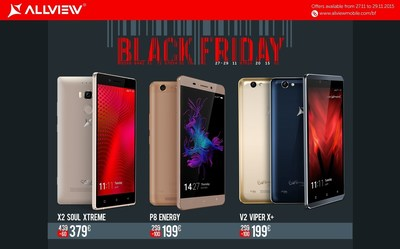 Allview Black Friday 2015: over 50 products with up to 50% discounts for European technology frenzies (PRNewsFoto/Allview)