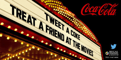 Regal Cinemas Partners with Coca-Cola on 'Tweet a Coke' Program. Source: Regal Entertainment Group (PRNewsFoto/Regal Entertainment Group)