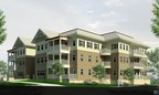 Artist rendering of the new independent living residences at Plantation Estates retirement community in Matthews, NC.