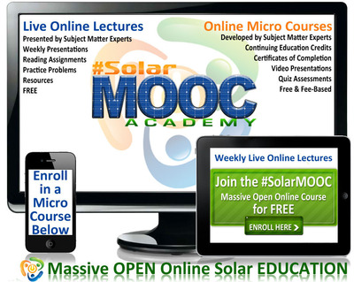 Solar Massive Open Online Courses.  (PRNewsFoto/SolPowerPeople, Inc.)