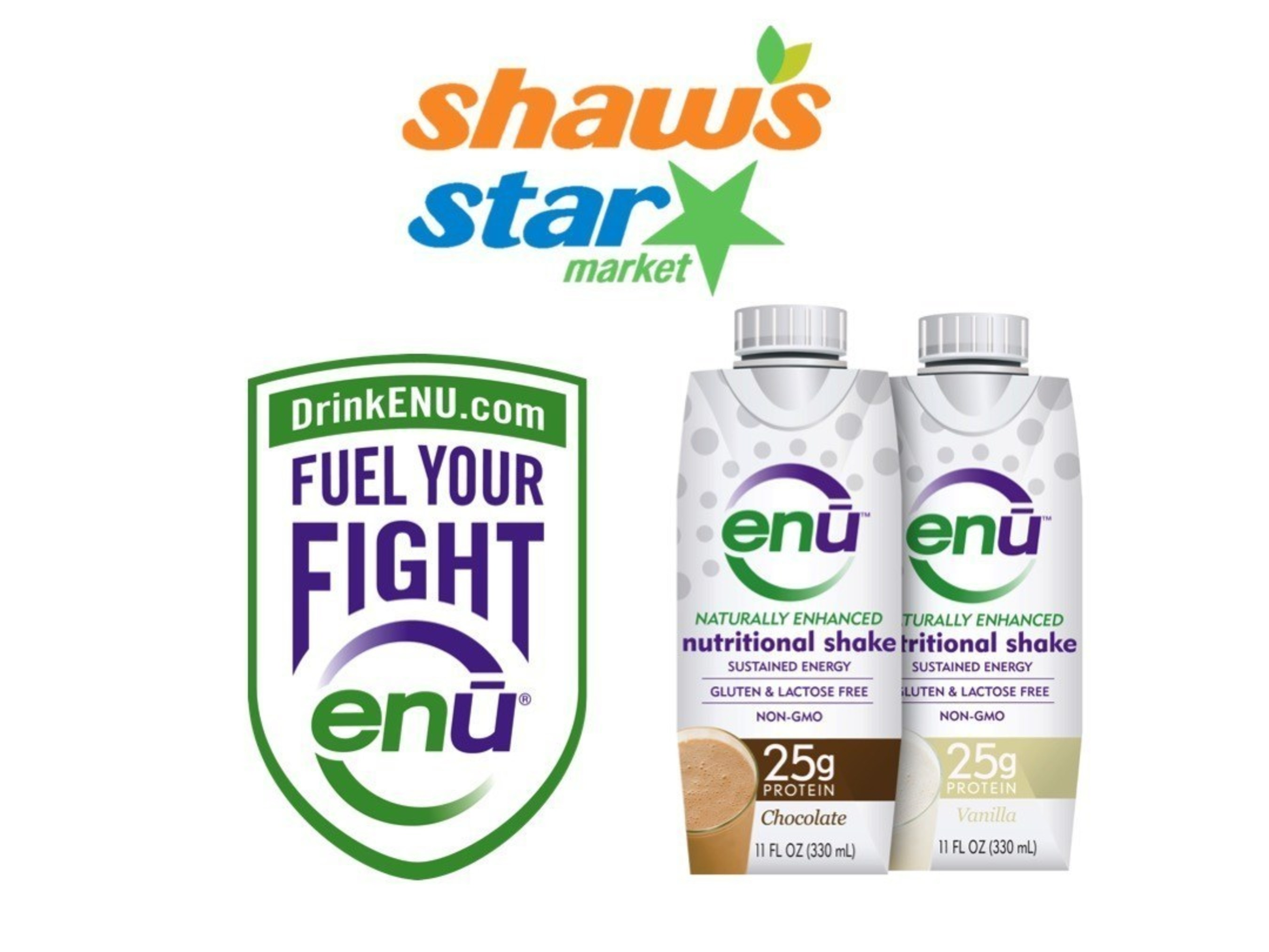 ENU® Nutritional Shakes Now Available at Shaw's® Markets Across New England